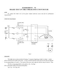brake test on the 3 phase induction motor