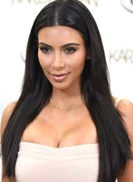 long black hair with part in the middle 50 best kim kardashian hairstyles