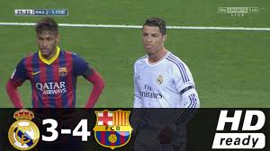 Real Madrid Real Madrid Vs Barcelona 3 4 Liga Bbva All Goals Extended