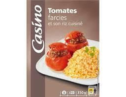 riz cuisiné tomates farcies et riz cuisiné casino 350 g casino livré par