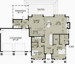 Lakefront Home Floor Plans The Red Cottage Tennessee Architectural Design