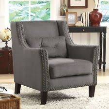 Chenille Armchair Living Room Transitional Armchair Chairs Ebay