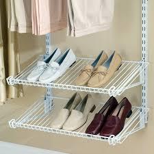 Wall Mount Wire Shelving Rubbermaid Configurations Add On Closet Shelf Kit White Hayneedle