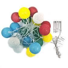 how many feet of christmas lights for 7 foot tree aleko b20ledcoballwh battery 20 led multicolor cotton balls string