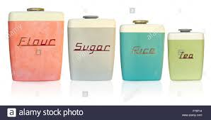 retro canisters kitchen retro kitchen canisters stock photo royalty free image 90504992