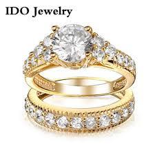 wholesale gold rings images New fashion jewelry wholesale wedding ring set fashion yellow jpg