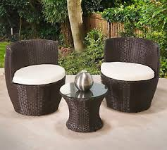 Egg Bistro Chairs 2 Seater Rattan Egg Patio Set Brown Bistro Wicker Furniture Coffee