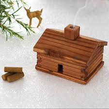 smoking wooden log cabin by men u0027s society notonthehighstreet com