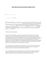 free non recourse promissory note form pdf template form download