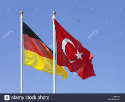 Flags And Flagpoles Flagpoles Flags German Turkish Wind Blows Flags Flagpole Stock