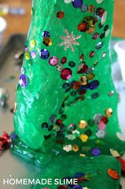 christmas tree homemade slime christmas science activity for kids