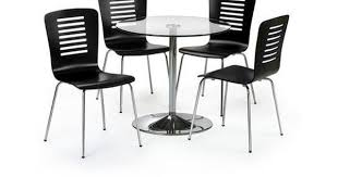 lucido extending central part white glass pedestal dining table and 4 chairs set 80 cm diameter