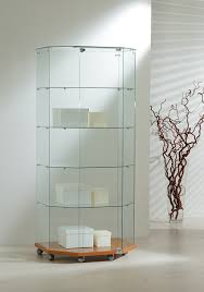 Showcase Glass Cabinet Our Half Octagon Display Showcase Features A Lockable Door Four