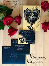and the beast wedding invitations and the beast inspired gatefold laser cut invitation