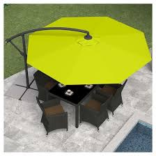 Lime Green Patio Furniture by 8 25 U0027 Offset Patio Umbrella Lime Green Corliving Target