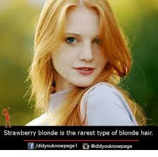 Blonde Meme - strawberry blonde is the rarest type of blonde hair didyouknowpagel