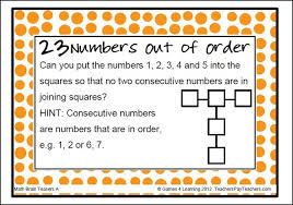 grade 4 math brain teasers 4 brain math teasers grade worksheet 1