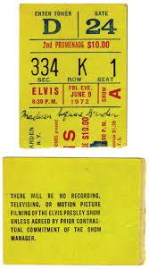 ticket stub album lot detail june 9 1972 elvis concert ticket stub from
