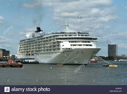 london greenwich the world floating hotel and cruise ship moored
