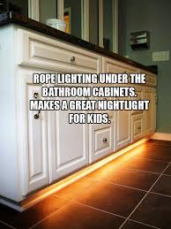 Foam Under Bathtub You Can Also Place Lighting Under Bathroom Cabinets To Make