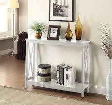 amazon com convenience concepts oxford console table white
