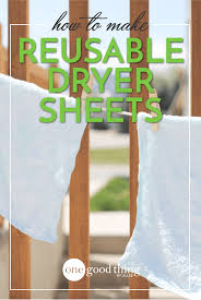 Dryer Leaves Marks On Clothes Make Your Own Reusable Dryer Sheets One Good Thing By Jillee