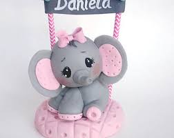 baby shower cake decorations elephant baby shower etsy