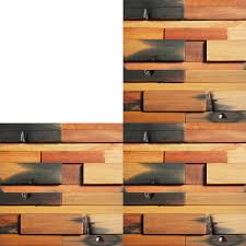 Recycled Wood by Reclaimed Wood Wall Tile For Interior Wall Design 11 Panels 10 7 Sq Ft