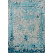 Teal Area Rug Amerihome Teal 5 Ft X 8 Ft Woven Vintage Style Area Rug