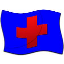 cross blue flag clipart image ipharmd