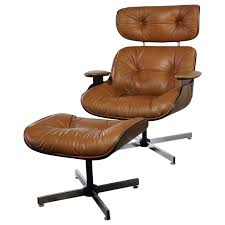 modern chair with ottoman mid century modern plycraft eames style lounge chair and ottoman in