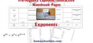 pre algebra lapbook homeschool den