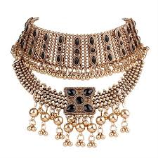 necklace choker wholesale images Wholesale chunky antique gold statement choker necklace yiwuproducts jpg