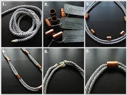diy necklace with rope images Diy silver rope copper coupling necklace my bloggable day jpg