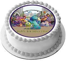 monsters inc birthday cake monsters inc edible cake or cupcake topper edible