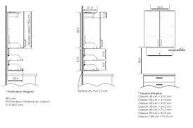 hauteur standard plan de travail cuisine hauteur meuble haut cuisine plan de travail evtod cuisine