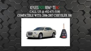 how to replace chrysler 300 key fob battery 2006 2007 youtube