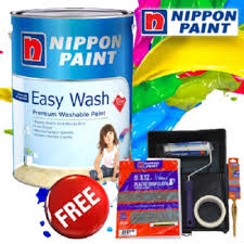 nippon paint easy wash with teflon 5l orchid white lazada