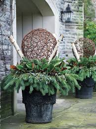Decorate Outside Urn Christmas by 213 Best Outdoor Christmas Ideas U0026 Lights Images On Pinterest