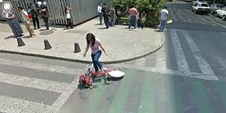Map Street View Mexico City Bicycle Mishap Google Street View World Funny