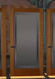 Interior Wood Doors With Frosted Glass Second Life Marketplace Super Elegant Cherry Wood And Frosted