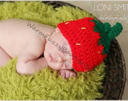 Preemie Halloween Costume Baby Strawberry Hat Etsy