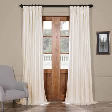 Textured Cotton Tie Top Drape by Solid Cotton Blackout Curtains Cotton U0026 Linen Curtain