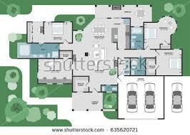 floor plan for house floor plan house modern unique graphic stock vector 635620721
