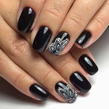 Black Manicure Designs Black Nail Designs Best 25 Black Nail Designs Ideas On