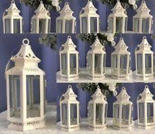 lantern wedding centerpiece lantern candle holder small white 13360 ebay