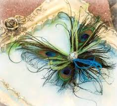 peacock feather butterfly fascinator clip comb pin wedding