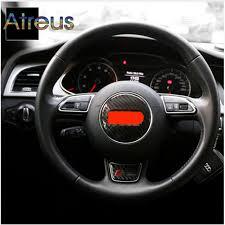 audi a6 b8 aliexpress com buy atreus steering wheel carbon fiber stickers