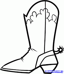 cowboy boot coloring cowboy boots coloring pages