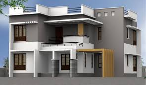 Two Level Floor Plans Architecture 3d Minimalist House Plan Design With Double Garage